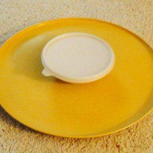 Vtg TUPPERWARE DIP N SERVE Chip & Dip Bowl #492